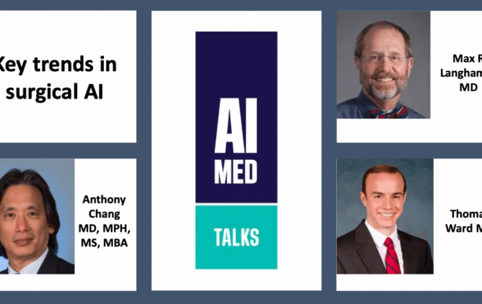 AIMed artificial intelligence AI machine learning ML data algorithms machine surgery medicine healthcare surgical AIMed webinar trends surgeons science technology physician clinician patient innovation research health disparities race pediatrics