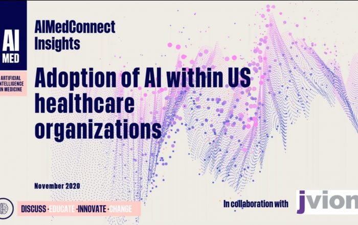 artificial intelligence AI machine learning ML data algorithm research survey results findings C-suite physician clinician patient medicine healthcare science technology adoption deployment development innovation AIMed webinar behavioral depression suicie opioid use